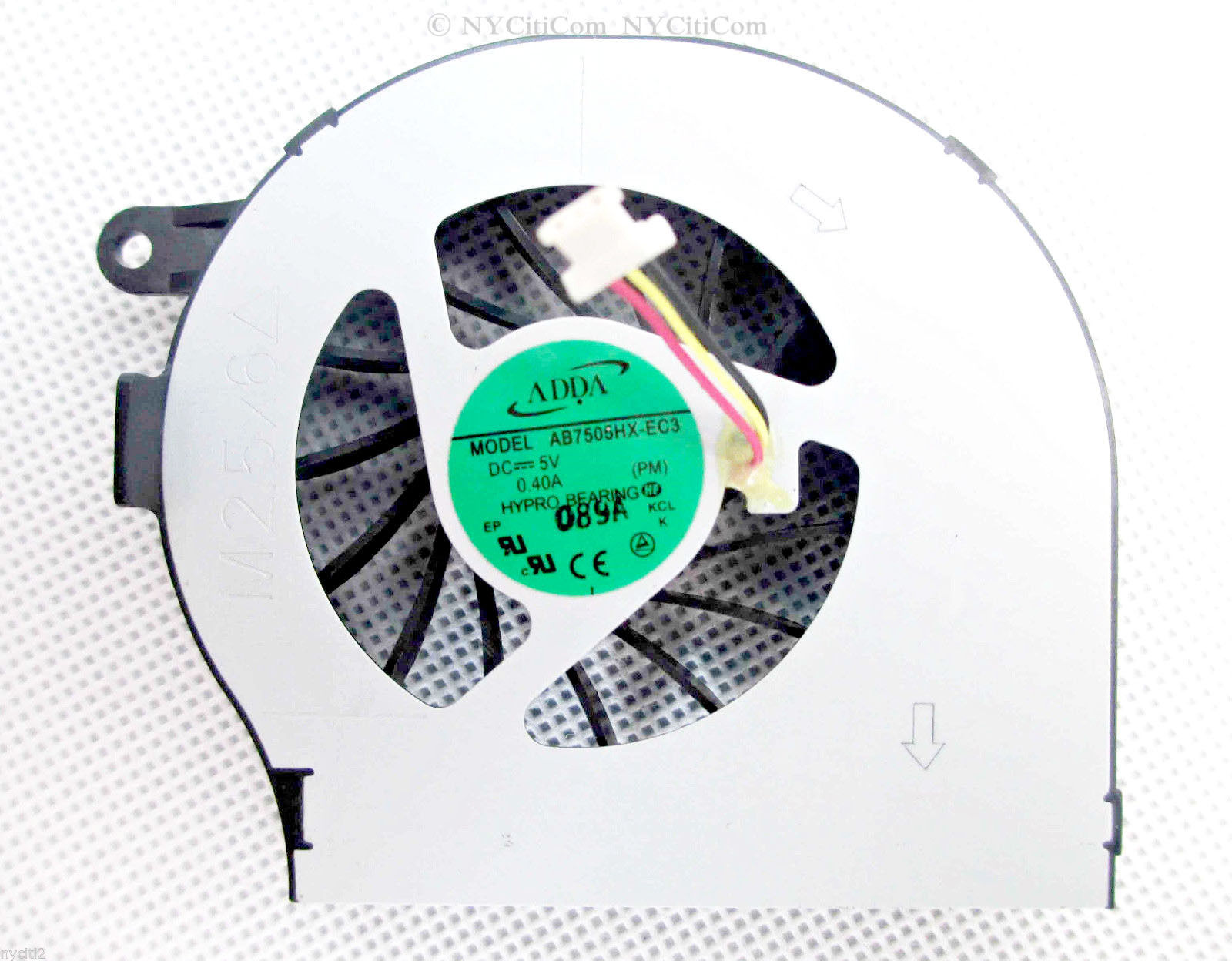 New Adda AB7505HX-EC3 (PM) CPU Fan 612354-001 white HP Compaq CQ72 G72 Series