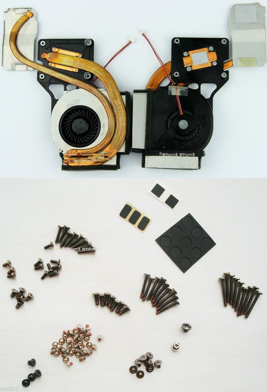 CPU Fan Heatsink + Screws & Cover For IBM Lenovo R61E 42W2403 MCF-219PAM05